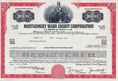 Montgomery Ward Credit Corporation, WARDS. 1978 , 9 1/2% Deb. due 1983 (1.000 $)