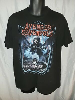 Avenged Sevenfold Nightmare Rock Band Concert Mend Black XL T-Shirt