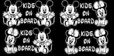 Baby on Board Mickey Minnie Mouse Kids Decal car truck laptop window custom