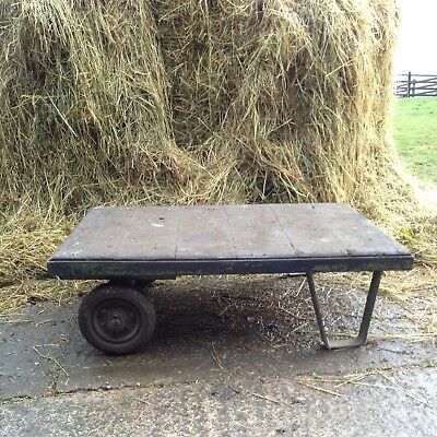 Industrial Trolley/Sack Cart 'Coffee Table' - Authentic Reclaimed Item