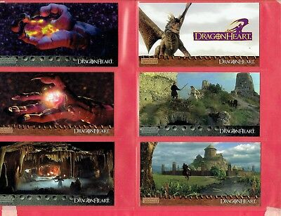 Dragon Heart Card No 1 to 72 Topps Widevision 1994 in Pocket Plastic Sheet.VG