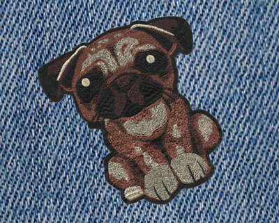 XXL Extra Large Cute Puppy Dog Shirt Patch Badge 23cm Applique