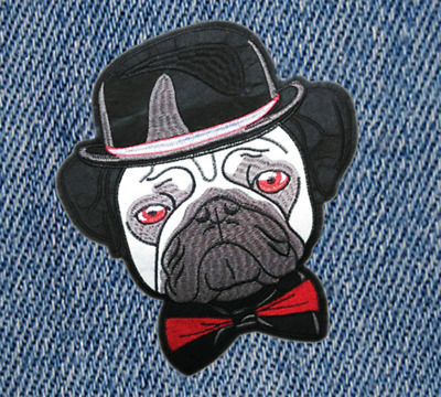 XXL Extra Large Cute Bulldog Puppy Dog Shirt Patch Badge 29cm Applique