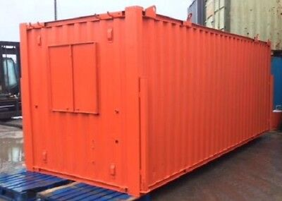 21ft x 8ft Anti Vandal Office & Canteen Container ORANGE