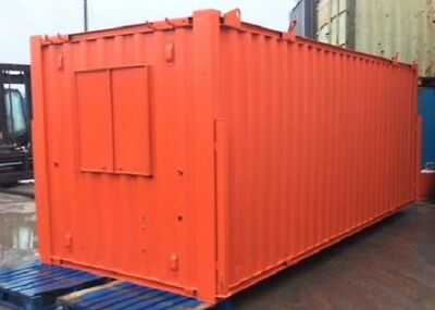 21ft x 8ft - REDUCED!! Anti Vandal Office & Canteen Container - ORANGE - BURY!!