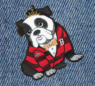 XXL Extra Large Cute Bulldog Puppy Dog Shirt Patch Badge 23cm Applique