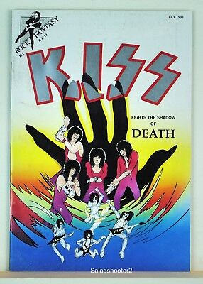 Rock Fantasy Comics #10 Kiss Fights the Shadow of Death July 1990 Fine/Very Fine