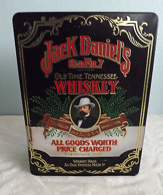 Vintage Jack Daniel's Old No.7 Hinged Tin and Sipping Glasses, Made in England