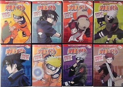 Naruto Complete Series Seasons 1-4 UNCUT! (DVD 220 Episodes) 1 2 3 4 New