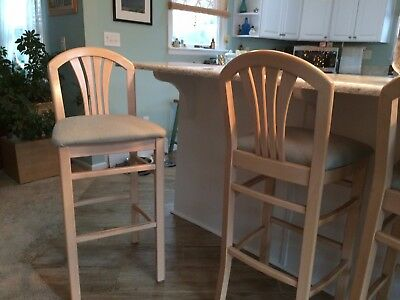 "Solid Maple 30"" bar stools (4)"