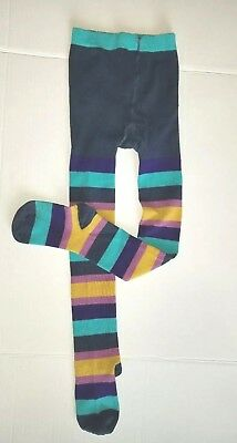 MINI BODEN Girls Size 7 8 Years Multi Stripe Patterned Tights