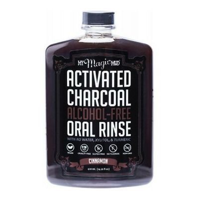 My Magic Mud Activated Charcoal Alcohol Free & Vegan Oral Rinse Cinnamon 420 ml