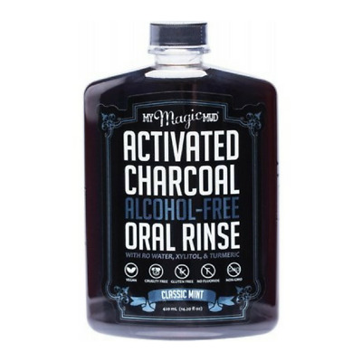 My Magic Mud Activated Charcoal Alcohol Free Vegan Oral Rinse Classic Mint 420ml