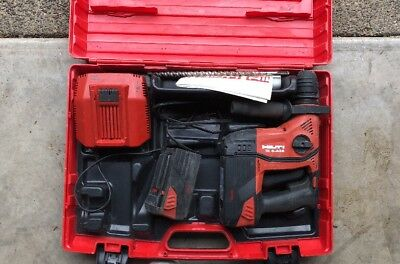 Hilti TE 6-A36 Cordless Rotary Hammer Drill. Charger & 2x Batteries Included