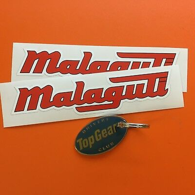 MALAGUTI Moped Scooter Classic Stickers Decals 150mm 2 off