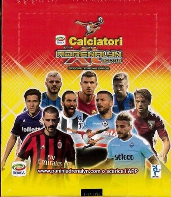 Box 24 Bustine Calciatori Adrenalyn Xl 2017-18 Official Trading Cards