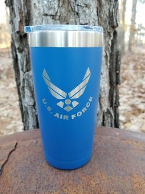 Personalized Insulated Tumbler Travel Mug 20 Oz , Air Force Logo