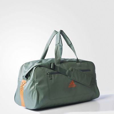 6c6452264153 Adidas Ventilated Climacool Medium Team Duffel Bag-S99904-Green orange