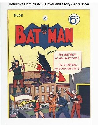 BATMAN #59 - UNRESTORED HIGH GRADE VF 8.0 - VERY SCARCE - 1954 U.K., Australia