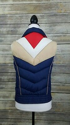 Mountain Goat By White Stag Bright Color Block 70s Vest Women's Size Medium M