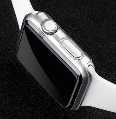 Clear Slim Hard Plastic Screen Protector Cover Case For Apple Watch 42mm