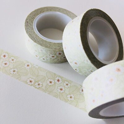 Washi Tape Pale Autumn Floral 15Mm X 10Mtr Roll Planner Wrap Craft Scrap