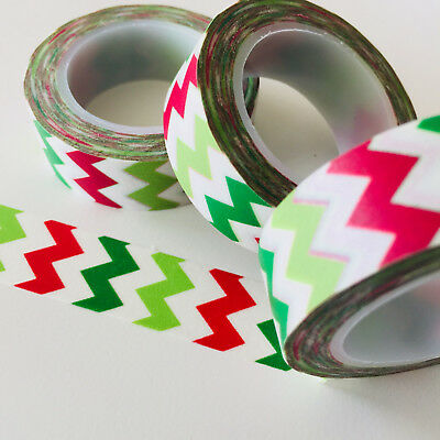 Washi Tape Tri Colour Mountains 15Mm X 10Mtr Roll Planner Wrap Craft Scrap