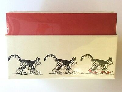 B. Kliban CATS Desk Office Notes Note Paper Holder Box CR Gibson SEALED UNOPENED