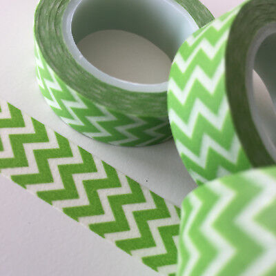 Washi Tape Lime Green Mountains 15Mm X 10Mtr Roll Planner Wrap Craft Scrap