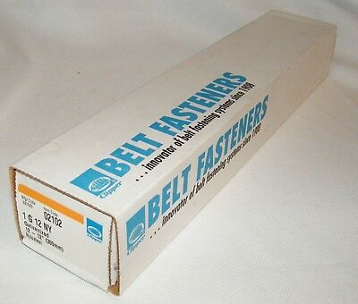 Box of Clipper Belt Lace Fasteners 1G12NY, Galvanized, 12-12 Inch W/Pins