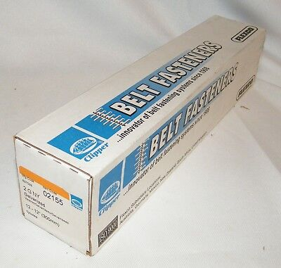 Box of Clipper Belt Lace Fasteners 2GNY, Galvanized, 12-12 Inch W/Pins