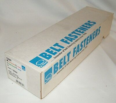 Box of Clipper Belt Lace Fasteners C5GNY, Galvanized, 12-12 Inch W/Pins