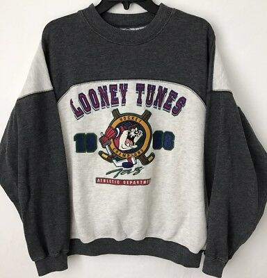 Vintage Acme Clothing Looney Tunes Crewneck Sweatshirt 1968 Embroidered Size XL