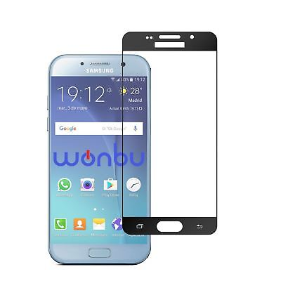 Tempered Glass Screen Protector For Samsung Galaxy A5 2017 Black Full Coverage