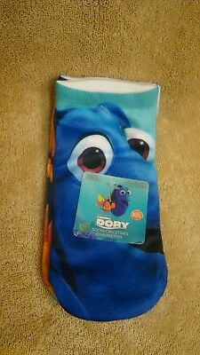 Disney Finding Dory Girls 3 Pair Of No Show Socks Size 6-8 CUTE NEW