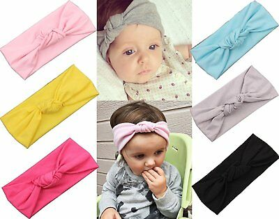 Baby Girl Headbands With Bows Perfect for Newborns/Toddlers with Knotted Bow