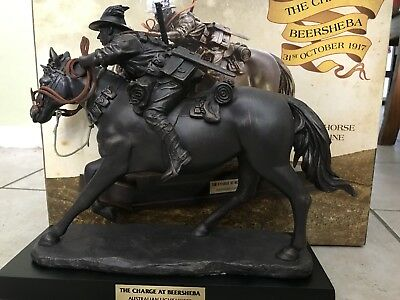 The Charge At Beersheba Light Horse Figurine H28Cm -L31Cm