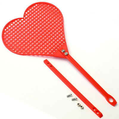 Funny Valentines Day Heart Fly Swatter (Red/Pink) Humorous Gift for Anniversary