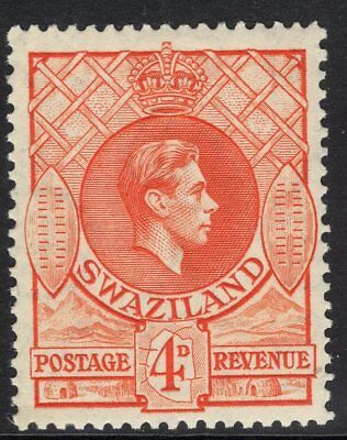 SWAZILAND SG33 1938 4d ORANGE p13½x13 MTD MINT