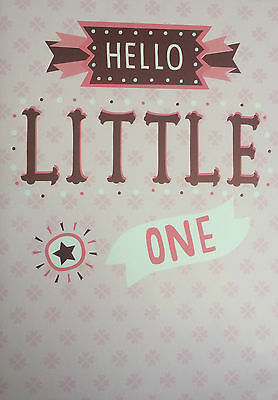 Congratulations New Baby Girl - Birth/Newborn Pink Card (Sealed)
