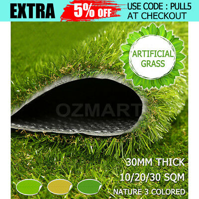10-30 SQM Artificial Grass Synthetic Turf Plastic Plant Fake Lawn Flooring 30mm