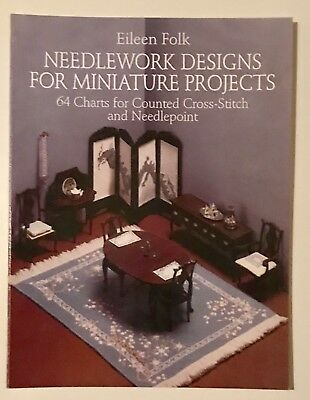 Needlework Designs For Miniature Projects-Special - Eileen Folk