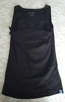 Lalabu Soothe Shirt Women's Large Black W/ Nursing Baby Pouch Carrier Excellent!