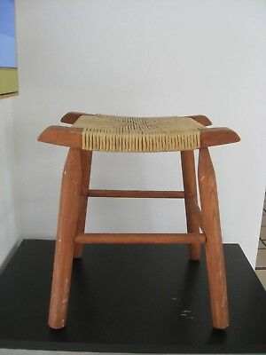 Arts and Crafts Rope Stool Mission Style