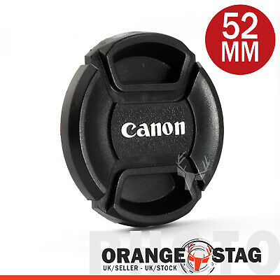 for Canon 52mm lens cap, Centre Pinch for Lenses with 52mm filter thread
