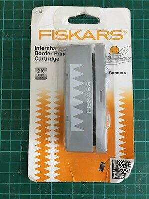 Fiskars Interchangeable Border Punch New in sealed packet Banners Bunting Zigzag