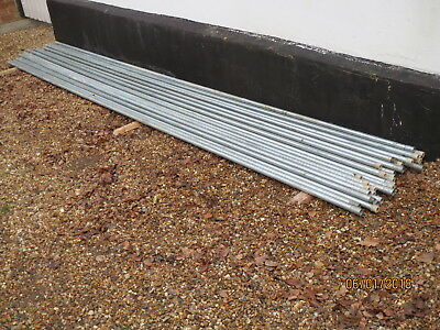 Galvanised Electrical Conduit, 25mm, about 123 metres. New.  Collection Only