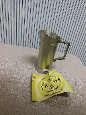 Vintage Royal Holland Pewter KMD TIEL Pitcher Tankard with Handle