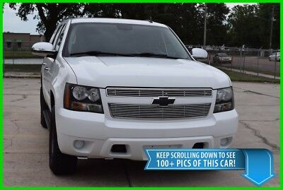 2008 Chevrolet Tahoe 4X4 SUV - CLEAN CARFAX - FREE SHIPPING SALE! CHEVY TAHOE 4WD SUV - WHITE WITH BLACK CLOTH INTERIOR LTZ - LOW MILEAGE