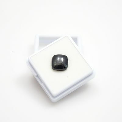 Natural Black Star Diopside - 3.63ct - 9x9mm - 4 Ray Loose Gemstone